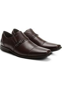 Sapato Social Couro Ferracini Bristol Masculino - Masculino-Café