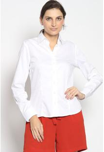 Camisa Lisa Com Botãµes- Brancaenna