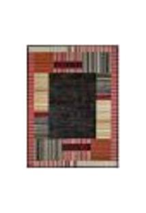 Tapete Retangular Veludo Marbella Illusione Depouille Preto 198X250 Cm