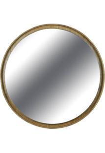 Espelho Lua Borda Louro Freijo 40Cm - 60296 - Sun House