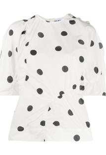 Ganni Recycled Polyester Blouse - Branco