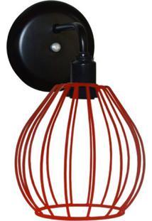 Arandela Com Aramado Modelo Balão Vermelho
