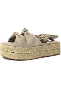 Sandália De Cordas Damannu Shoes Emma Feminina - Feminino-Bege