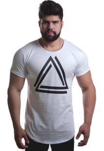 Camiseta Top Fit Triangulo Branca
