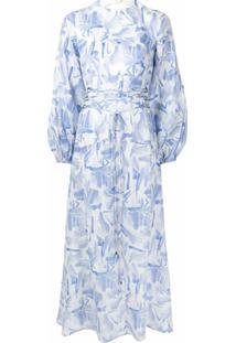 Rachel Gilbert Vestido Faris Com Estampa Abstrata - Azul