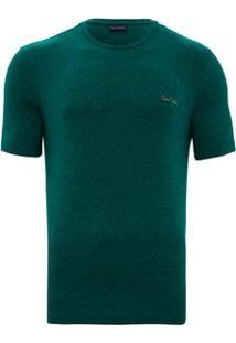 Camiseta Mesclada - Masculino-Verde