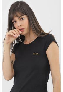 Camiseta Polo Wear Flamê Preta - Kanui