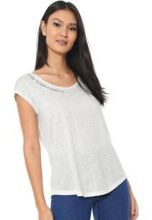 Camiseta Linho Iódice Juliana Off-White