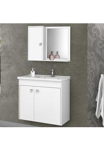 Armário De Banheiro Munique Branco - Bechara Móveis