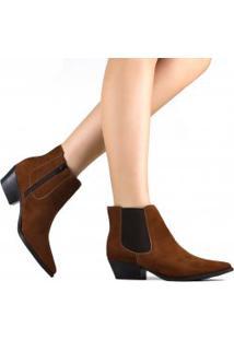 Bota Zariff Shoes Chelsea Em Nobuck