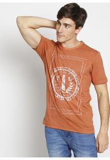 """Camiseta """"Curta Esse Sabor""""- Laranja & Branca- Coca-Coca-Cola"""