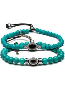 Pulseira Key Design Arm Rings Zen Azul