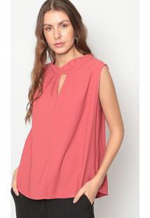 Blusa Com Vazado- Rosa Escuro- Seduã§Ã£O Dressseduã§Ã£O Dress