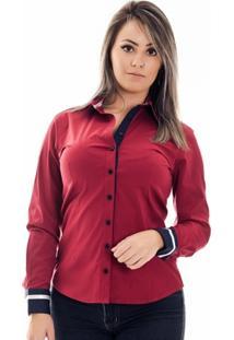 49618fea77 Camisa Com Bolso Vermelha feminina