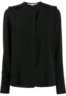 Stella Mccartney Epaulette Long-Sleeve Blouse - Preto