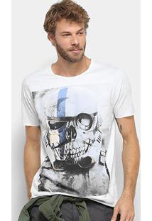 Camiseta Derek Ho Caveira Masculina - Masculino-Gelo