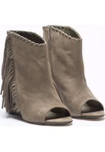 Ankle Boot Tiote Franjas Cinza - 36