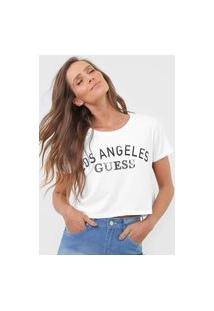 Camiseta Cropped Guess Los Angeles Branca