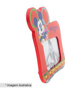 Porta Retrato Mickey Mouse® - Vermelho & Azul Escurozona Criativa