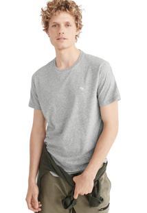 Camiseta Manga Curta Abercrombie Básica Cinza