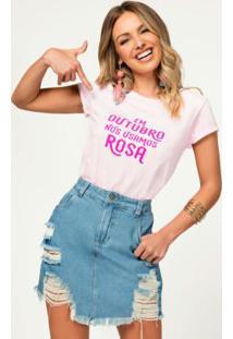 Blusa Outubro Rosa Com Estampa Neon