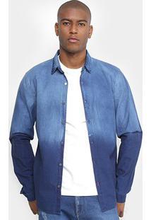 Camisa Jeans Calvin Klein Degrade Masculina - Masculino