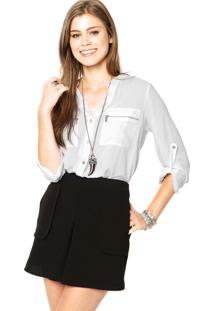 Camisa Facinelli Zíper Branca
