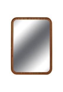 Espelho Lua Retangular Borda Louro Freijo 75Cm - 60297 Sun House