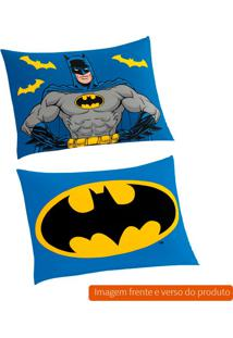 Fronha Infantil Batman Algodão Azul