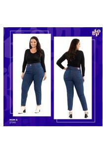 Calça Jeans Mom Básica Plus Size Feminina Biotipo