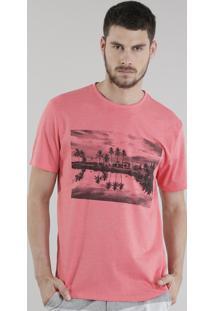 "Camiseta ""I Don'T Care"" Coral"