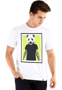 Camiseta Ouroboros Panda Man Branco