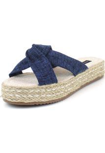 Sandalia Flatform Emporio Naka Juta Azul