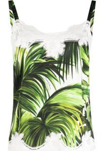 Dolce & Gabbana Blusa Com Estampa De Folhas - Branco
