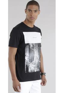 "Camiseta ""Whatever"" Preta"