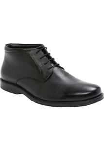 Sapato Social Liso Em Couro- Pretomr. Cat