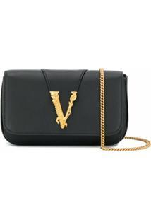 Versace Bolsa Virtus - Preto
