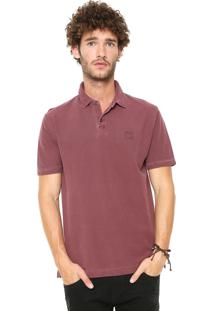 Camisa Polo Hang Loose Reta Carmel Vinho
