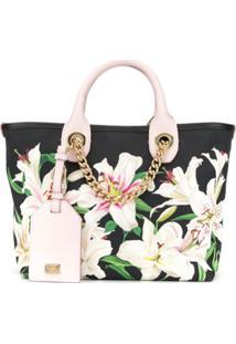 Dolce & Gabbana Bolsa Capri Com Estampa Lily - Preto