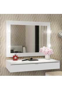 Penteadeira Com Espelho Camarim E Gaveta Suspensa Branco - Tecno Mobili