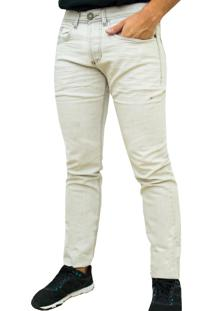 Calça Kevingston Roy Jeans Cru Algodao Slim Fit Stonada