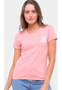 Camiseta Lecimar Keep Life Simple Feminina - Feminino-Laranja