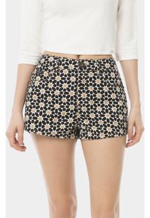 Shorts Miami Estampado Preto Reativo - Lez A Lez