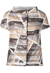 Herno Metallic Quilted Jacket - Cinza