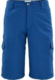 Bermuda Gajang Tecido Azul Marinho
