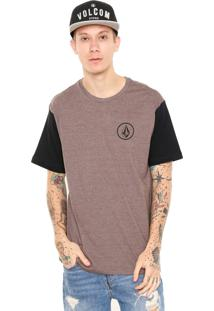 Camiseta Volcom Mini Circle Ii Marrom