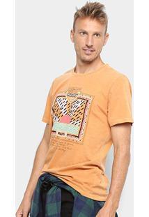 Camiseta Redley Tinturada Silk 80S Masculina - Masculino-Laranja