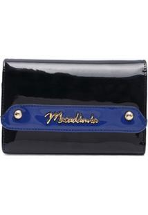 Carteira Verniz Macadamia Azul - Feminino-Azul