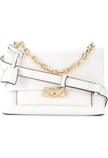 Michael Kors Collection Bolsa Tiracolo Cece Média - Branco
