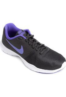 Tênis Nike Flex Bijoux Feminino - Feminino-Cinza+Violeta